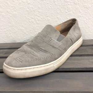 Vince Camuto Beyza Loafers Sz 9M Gray Leather